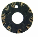 Ebony/Tan Wheel Wood Pendant (1PC)