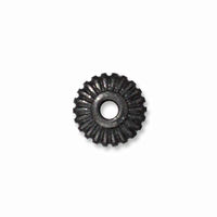 5mm Black Finish Crown Heishi Spacers (10PK)