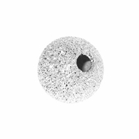 Silver Plated 6mm Stardust Beads (50PK)