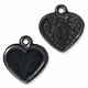 Black Finish Victorian Heart Frame Charm