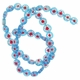 Blue Glass Millefiori 8mm Flat Round Beads 16-Inch Strand