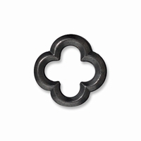 Black Finish Medium Quatrefoil Link