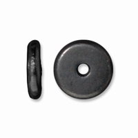 7mm Black Finish Disk Heishi Spacers (10PK)