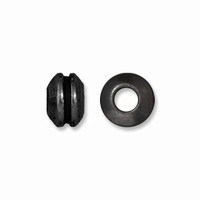 Black Finish 8mm Grooved Lg Hole Spacer