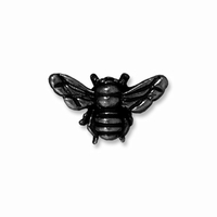 Black Finish Honeybee Bead