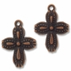 Antique Copper Plated 18mm Decorative Cross Charm (1pc)