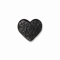 Black Finish Heart Scroll Bead