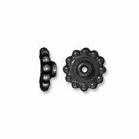 Black Finish 8mm  Aligner Large Hole Bead