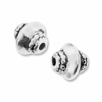 Antiqued Silver Bicone Bead (10PK)