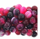 Red Lace Striped Agate 10mm Round Beads 16 Inch Strand