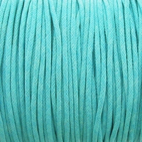 Aqua 1.5mm Waxed Cotton Craft Cord (1YD)