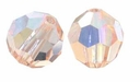 Light Peach AB Swarovski 5000 6mm Crystal Beads (10PK)