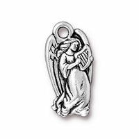 Antique Silver Angel Charm