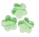 8mm Peridot Swarovski Crystal  5744 Flower Bead (1PC)