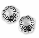 Fancy Sterling Silver Star Pattern Bead (1PC)