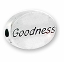 Goodness Sterling Silver Message Bead