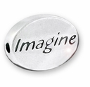 Imagine Sterling Silver Message Bead