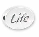 Life Sterling Silver Message Bead