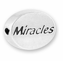 Miracles Sterling Silver Message Bead