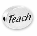 Teach Sterling Silver Message Bead