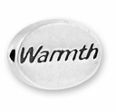 Warmth Sterling Silver Message Bead