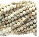 White Turquoise 6mm Round Beads 16 inch Strand