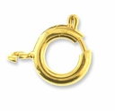 Gold Plated 7mm Spring Ring Clasp (10PK)