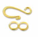 Gold Plated Hook & Eye Clasp (4PK)