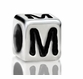 Metallized Plastic Letter M Bead 7mm