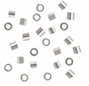 1.5 x 2mm Sterling Silver Crimp Beads (10PK)