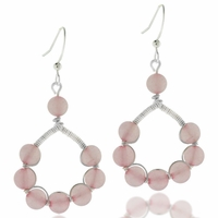 Rose Quartz Wire Wrapped Earring Design Kit