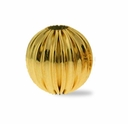 GF 8mm Corrugated Round Beads (1PC)