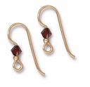 Gold Filled 2mm Siam Crystal Earwire (1PR)