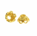 6mm Gold Vermeil Filigree Bead Cap (1PC)