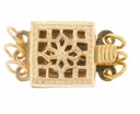 Gold Filled Filigree Box Clasp 3 Ring