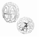 Sterling Silver Filigree Egg Bead (1PC)
