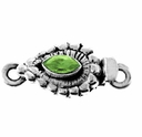 Marquise Faceted Peridot Sterling Silver Box Clasp