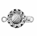 Sterling Silver Flower Box Clasp
