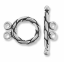Taylor Double Ring and Toggle Sterling Silver Set