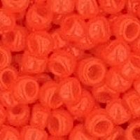 TOHO 8/0 Seed Bead:  Opaque Sunset Orange (10g)