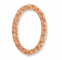 Copper Hammertone Oval Ring