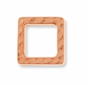 Antique Copper Sm Hammertone Square