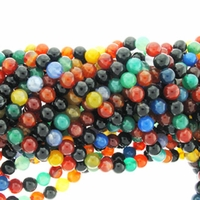 6mm Round Multi-stone Agate Beads 16 inch Strand