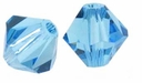 Aquamarine 5328 8mm Swarovski Crystal XILION Bicones Beads (1PC)