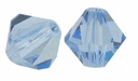 Ligth Sapphire 5328 8mm Swarovski Crystal XILION Bicones Beads (1PC)