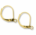 Gold Plated Oval Lever Back Earrings (10PR)
