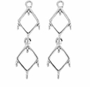 Double Diamond Chandelier Drop (1PC)