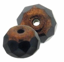 Gemstone Donut 7/5mm Bronze Jet (12PK)