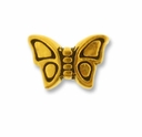 Antique Gold Small Butterfly Bead