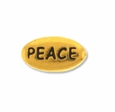 Pewter Gold Peace Bead